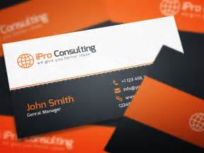 business cards for consultants free psd ipro consulting business cards