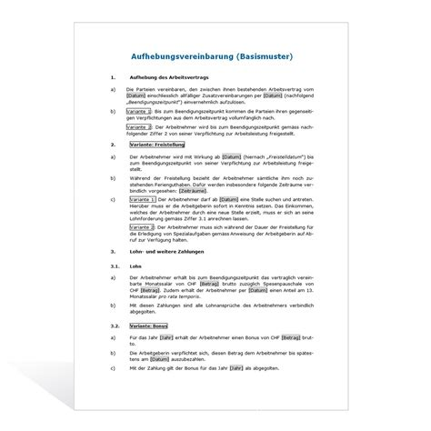 Reklamation Gerät Musterbrief Muster Aufhebungsvertrag Weka Ch