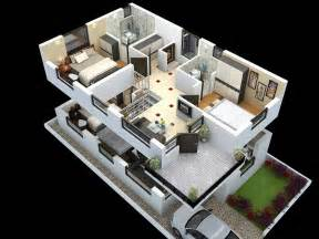 home design plans ground floor 3d cut model of duplex house plan interior design cut