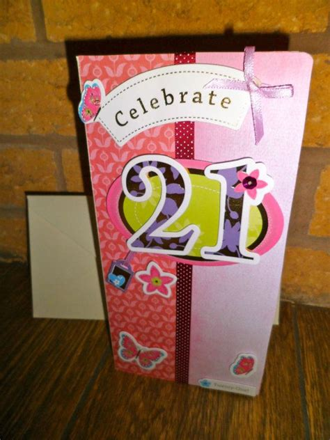 Handmade 21st Birthday Gifts - lovely handmade 21st birthday card all unique cards