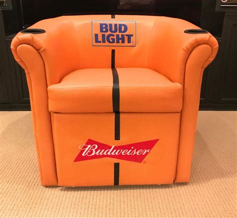 bud light recliner with cooler budweiser chair shop collectibles daily