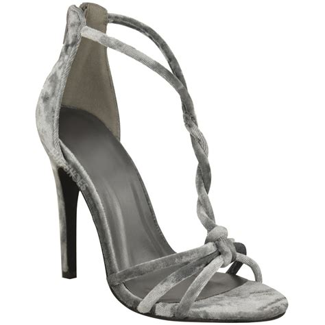 Twisted And Heels by Womens Velvet High Heels Barely There Twisted