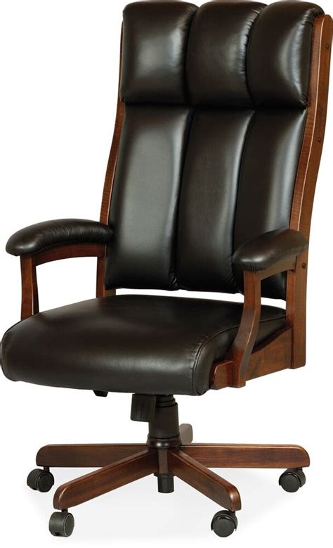 Amish Desk Chair by Amish Desk Arm Chair Computer Solid Wood Leather