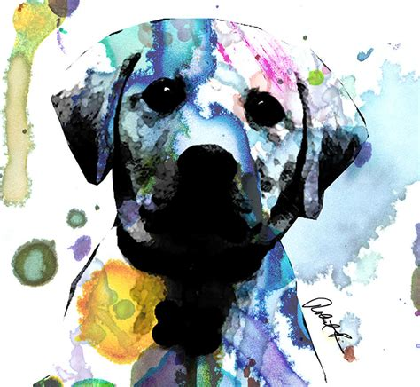 puppies puppies artist 48x44 labrador puppy signed abstract paintings modern www