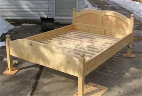 How To Build A Bed Frame And Headboard by Building A Bed Frame