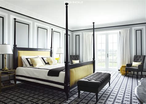 Yellow Black Bedroom yellow and black bedroom contemporary bedroom greg