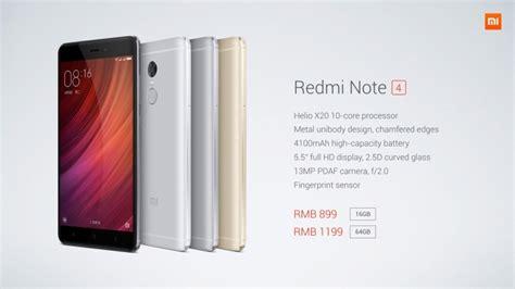 Dan Spesifikasi Hp Android Xiaomi Redmi Note xiaomi redmi note 4 hp android spek kelas menengah harga terjangkau terbaru 2018 info gadget