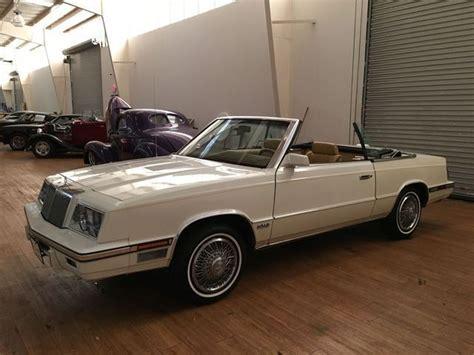 Chrysler K Car For Sale by 1985 Chrysler Lebaron Convertible Turbo Cross Package