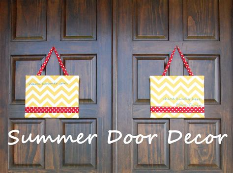 Random Thoughts Of A Supermom Summer Door Decor Summer Front Door Decor