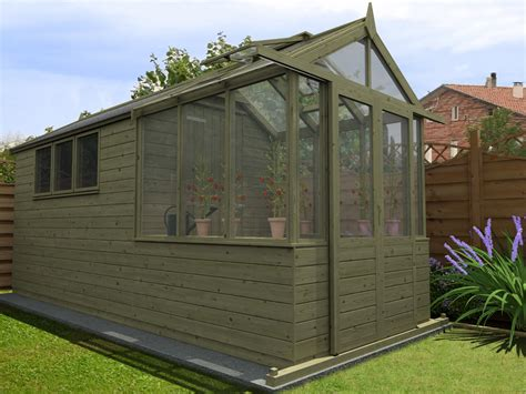 Garden Shed Greenhouse Combo by Our New Greenhouse Shed Combo Range Dunster House