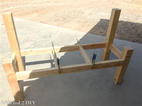 how to make a bench with a back rustic tailgate bench tutorial addicted 2 diy