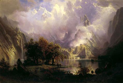 Landscape Paintings Usa File Rocky Mountain Landscape By Albert Bierstadt 1870
