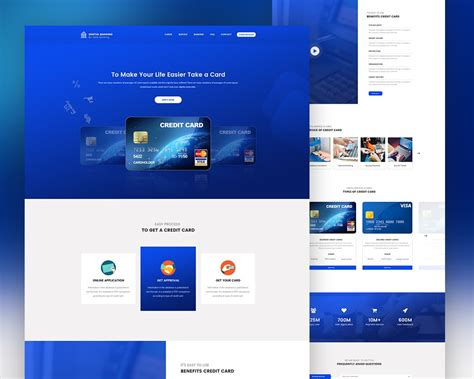 credit card payment website template credit card landing page template psd psd