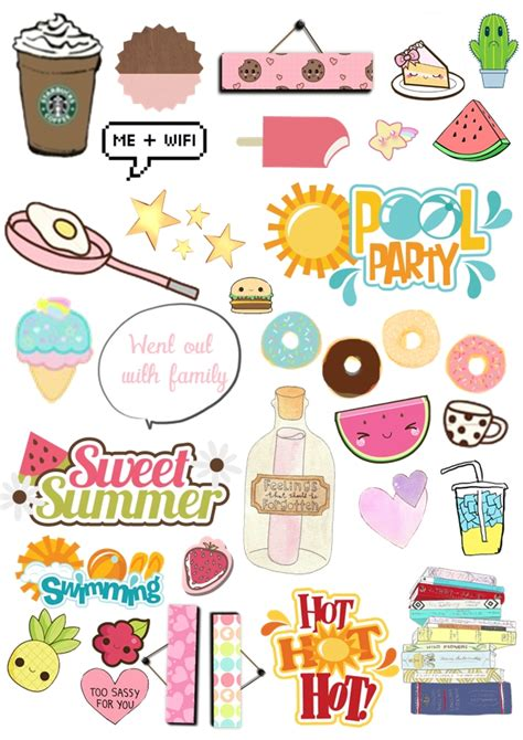 printable stickers kawaii free monthly organization printables my pastel world