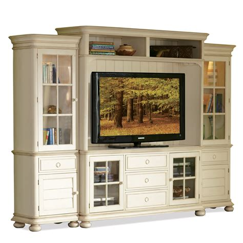 glass doors for entertainment wall riverside furniture placid cove entertainment wall unit
