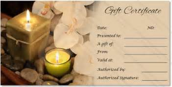 Spa Gift Certificate Template by Spa Gift Certificate Templates