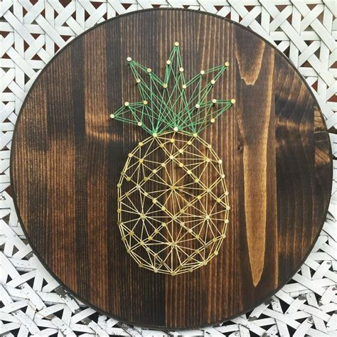 Nail And String Patterns - best 25 diy string ideas on pineapple