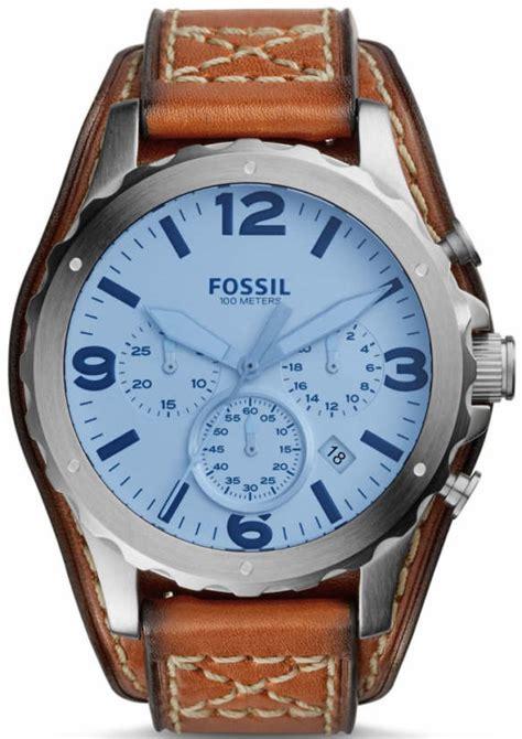 Fossil Jr1524 Nate Light Brown Leather Original s fossil nate chronograph light brown leather