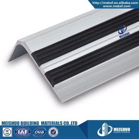 Rubber Floor Transition Strips by Anodized Aluminum Anti Slip Vinyl Rubber Floor Transition