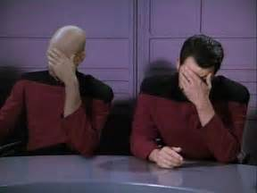 Star Trek Picard Meme - picard and riker facepalm meh ro