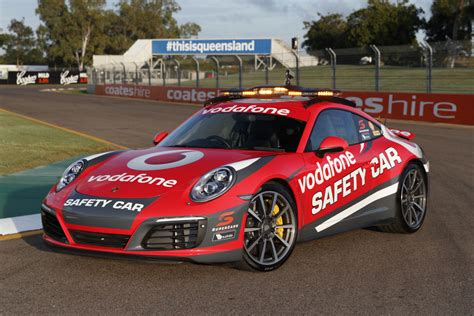 new porsche car supercars reveals new porsche safety car speedcafe