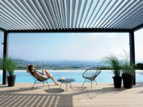 Pergola Adjustable Louvers by Bioclimatic Pergola With Adjustable Louvers Biossun 174 By