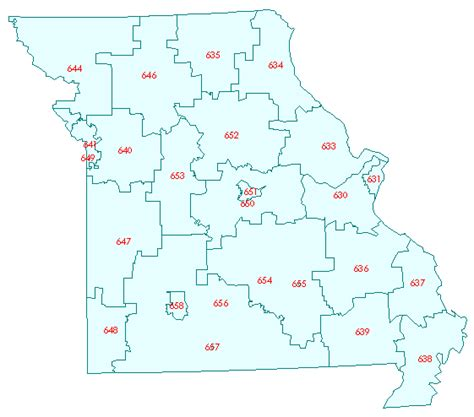 map missouri area codes counties in missouri map by zip code images