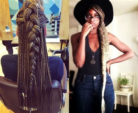 french braids in frnt and boxed braids in back spectacular long box braids hairstyles 2017 hairdrome com