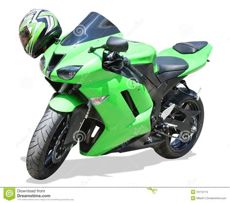 green motocross green motorcycle stock images image 10713774