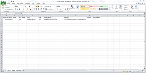contacts spreadsheet template contact manager import spreadsheet template csv file