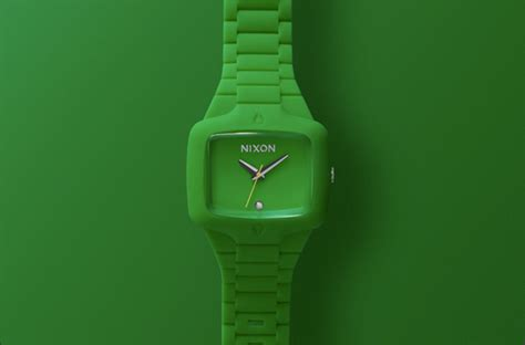Rubber Green nixon s new rubber player green