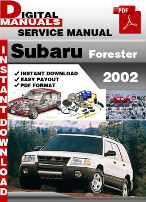 free auto repair manuals 2002 subaru forester lane departure warning subaru forester 2002 factory service repair manual download manua