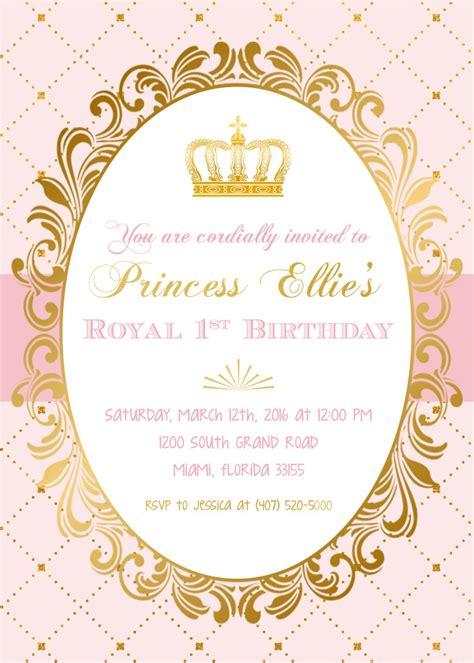 princess invitations princess birthday invitation princess invitation pink
