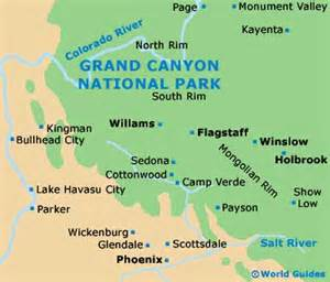 grand maps and orientation grand arizona