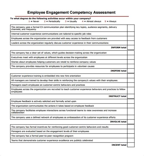 Sle Competency Assessment Template 9 Free Documents In Pdf Word Employee Competency Assessment Template
