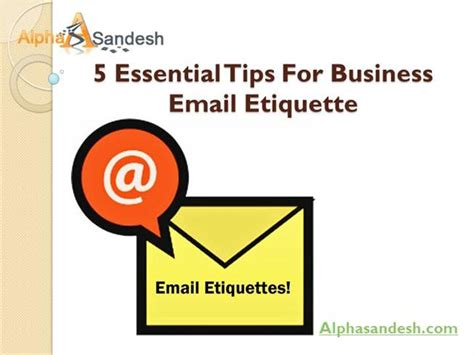 email etiquette pdf 5 essential tips for business email etiquette ppt
