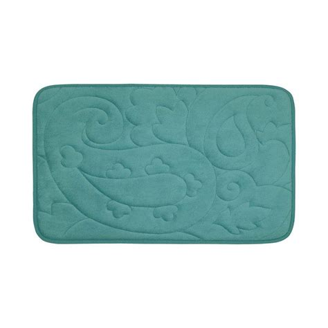 17x24 Bath Mat Bouncecomfort Pelton Marine Blue 17 In X 24 In Memory Foam Bath Mat Ymb002428 The Home Depot