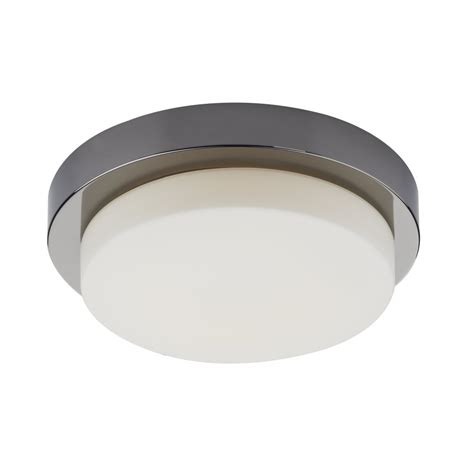 modern black chrome trim bathroom ceiling light low