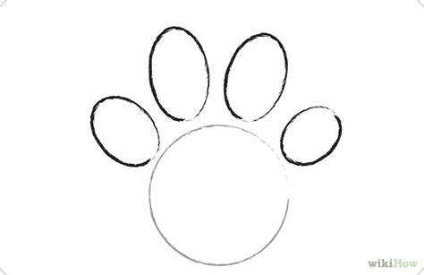 how to draw a puppy paw paw drawing
