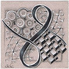 Challenge 129 Use String 004 Tangles Sez Ilana And | zentangle color on pinterest doodles pens and tangled