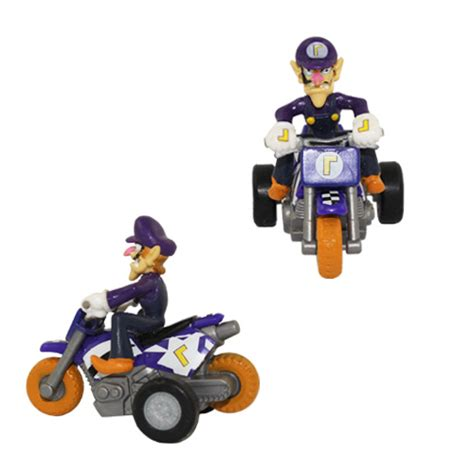 Bros Mini Oshibana Handmade Nbc 001 Mario Bros 4cm Mini Autobike Waluigi Figure
