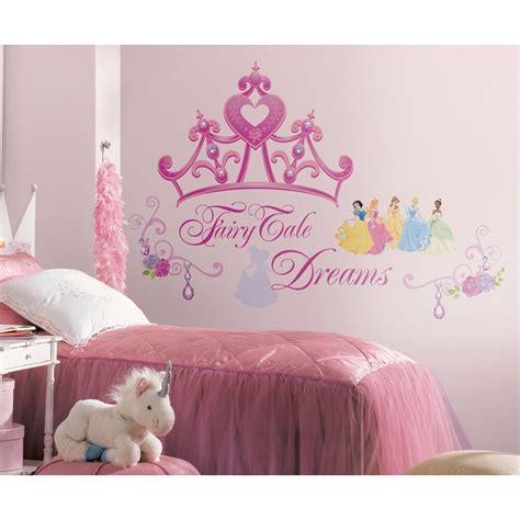 disney princess crown giant wall decals girls stickers pink bedroom decor ebay