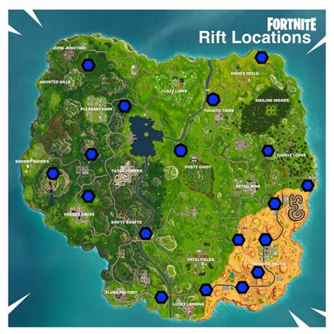 fortnite rift locations map   guide  find