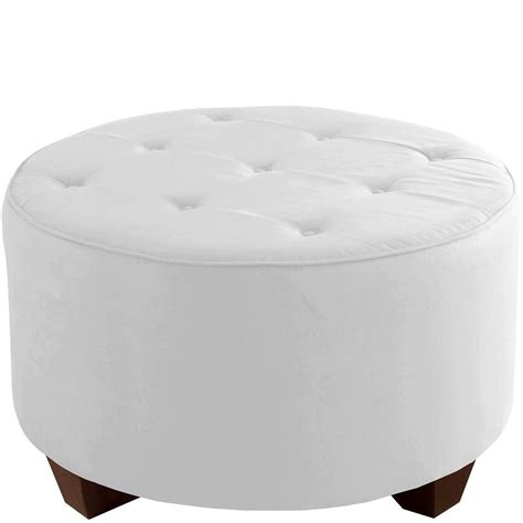 tufted round cocktail ottoman skyline furniture round tufted cocktail ottoman