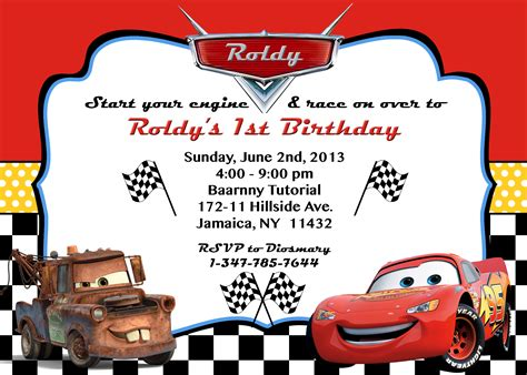 cars invitation cards templates cars invitation orderecigsjuice info
