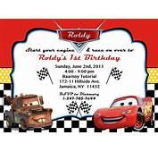 Cars Party Invitation – Orderecigsjuiceinfo