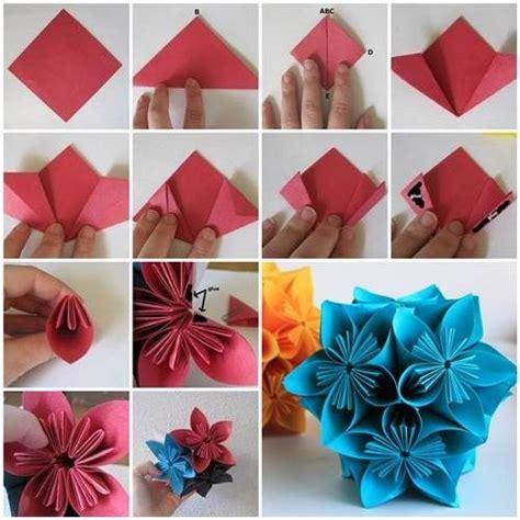 How To Make A Paper Carnation - origamizzunk kusudama vir 225 g hajtogat 225 sa sz 237 nes 214 tletek