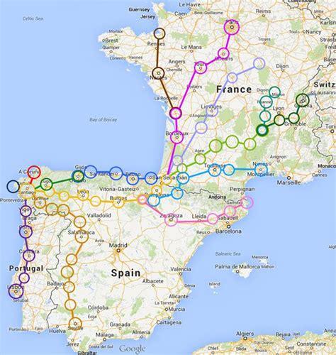 camino trail map travel tips in 2019 wanderlust camino de santiago