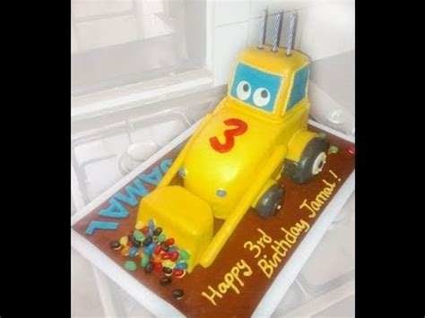 How To Make A Birthday Cake Out Of Paper - how to make digger birthday cake out of fondant