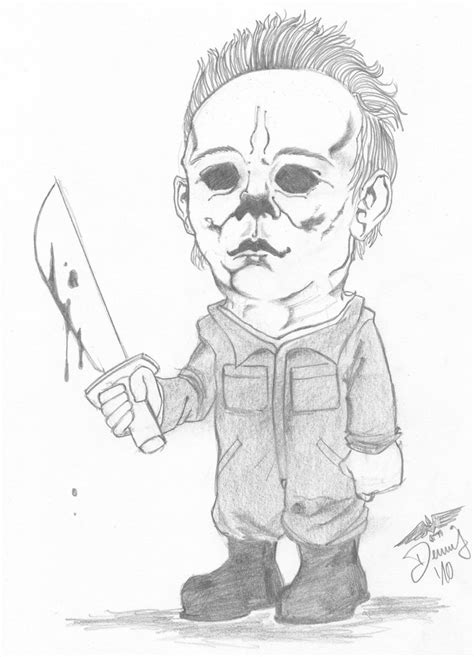 Mini Michael Myers By Dennygreen On Deviantart Michael Myers Coloring Pages